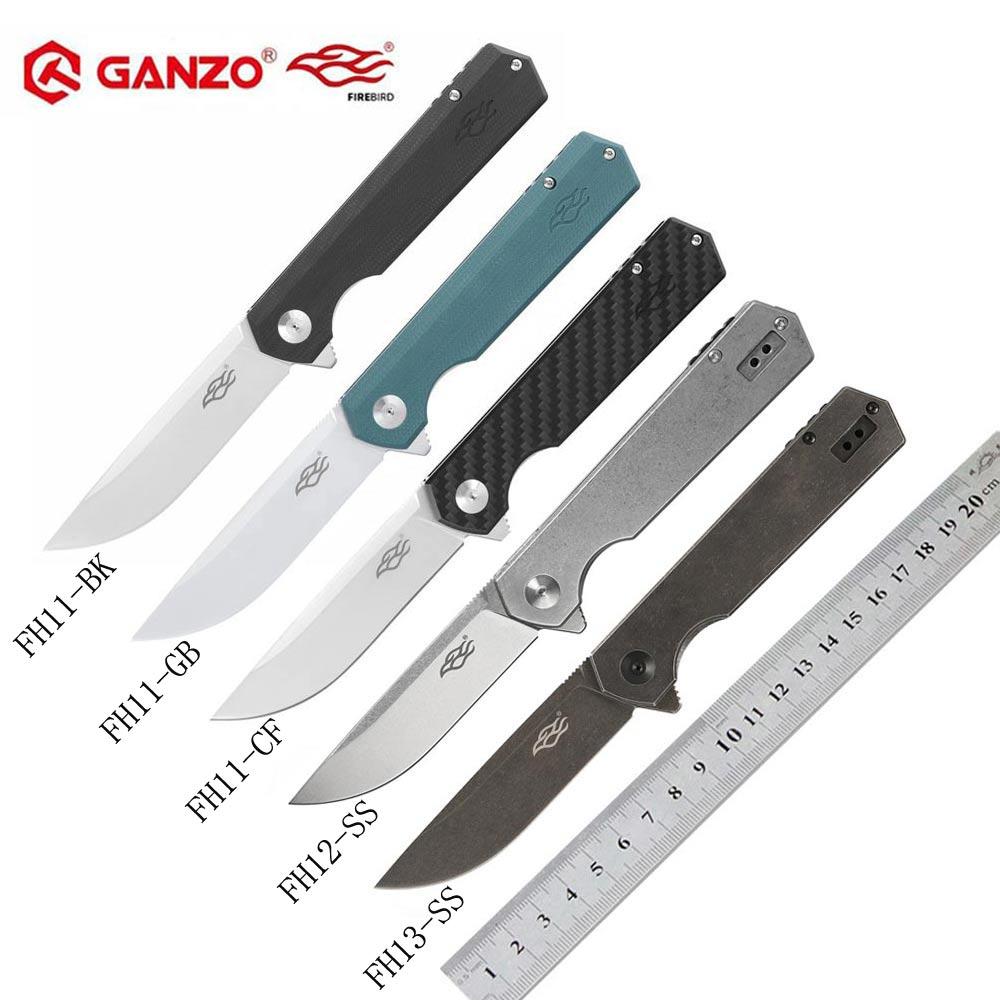 Ganzo Firebird FH13 FH11 couteau pliant 60HRC D2 lame tout acier poignée couteau pliant survie en plein air couteau de poche tactique edc