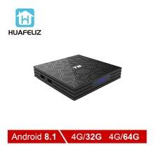 T9 tv box T9 Android 8,1 4 GB 32 GB Rockchip RK3328 Quad-core 1080 P 4 K Android tv box Smart Box 4 GB 64 GB телеприставки pk t95q