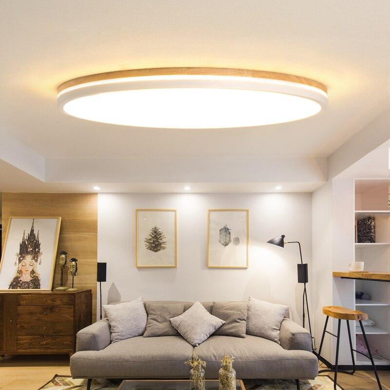 LED ceiling lights Wood fixtures nordic luminaire wooden Ceiling lamp Children's bedroom illumination modern ceiling lighting