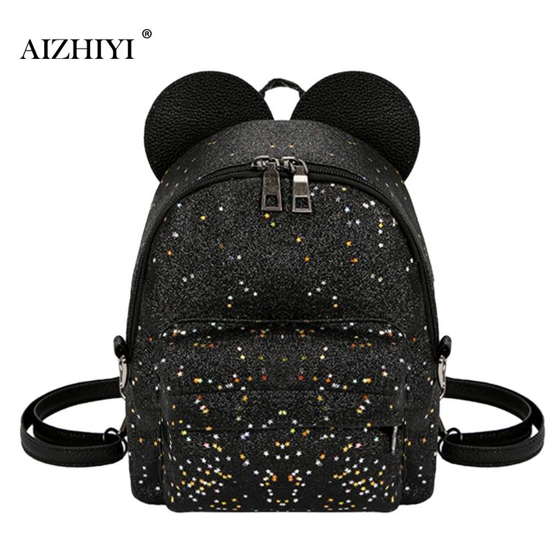 Shoulder Bag Cute Mini Shining Sequins Backpack