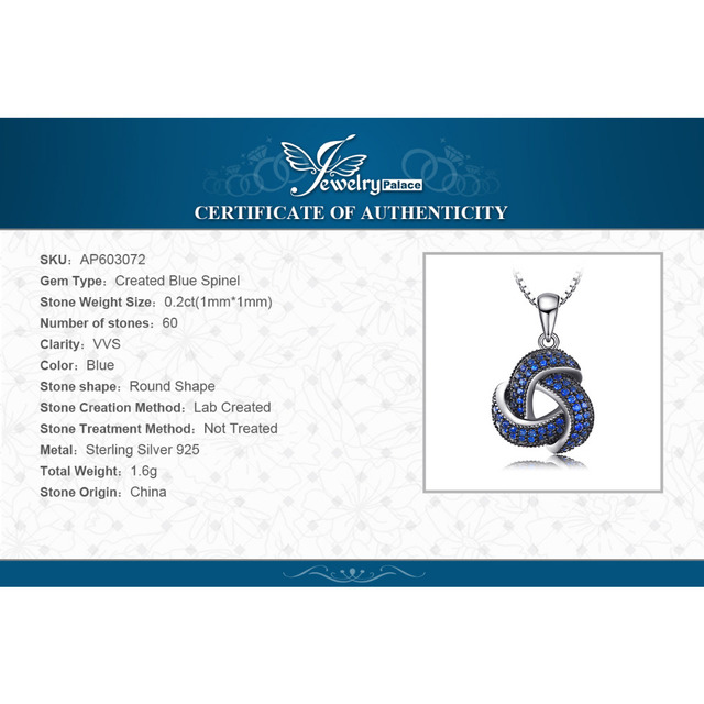0.5ct Created Blue Spinel Flower Wraparound Cluster Pendant 5