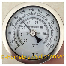 304 stainless steel weldless Bi-metal Thermometer, 3