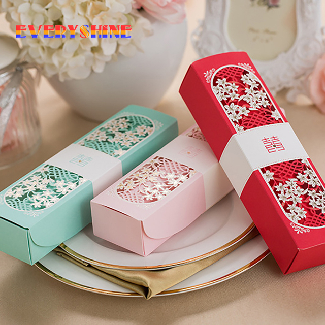 12pcslot China Double Happiness Laser Cut Butterfly Wedding