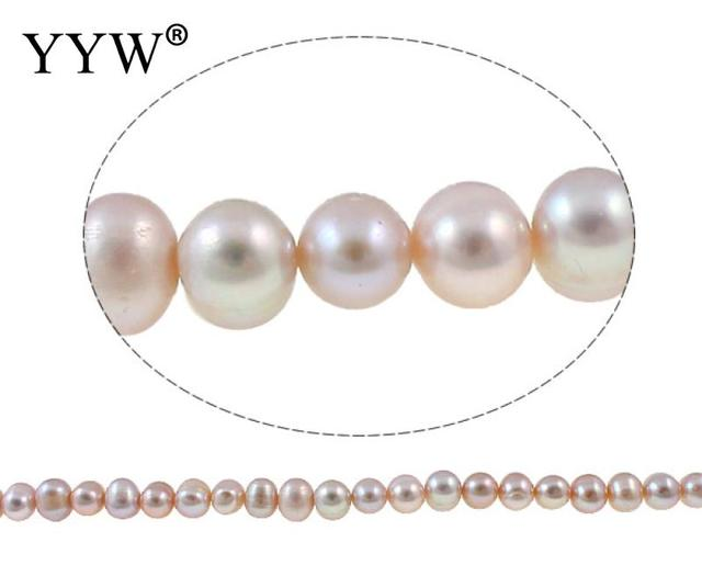 Baroque Cultured Freshwater Pearl Beads for making diy Jewelry Bracelet necklace Nuggets natural light purple, 8-9mm 14.3 Inch