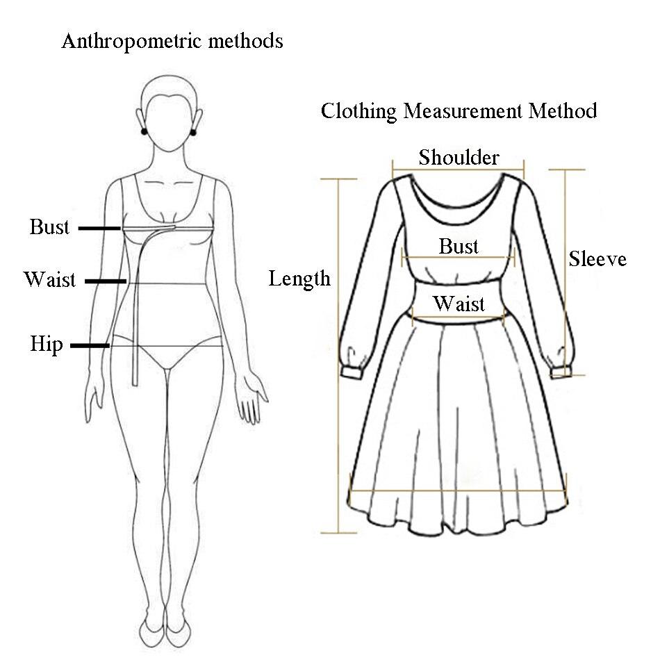 连衣裙测量方法