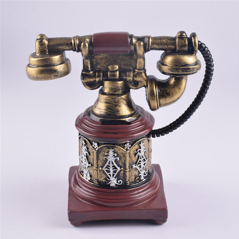 Retro Court Royal Telephone Piggy Bank Creative Resin Arts And Crafts Money Box Gift Desktop Place Adorn Home Furnishing Article