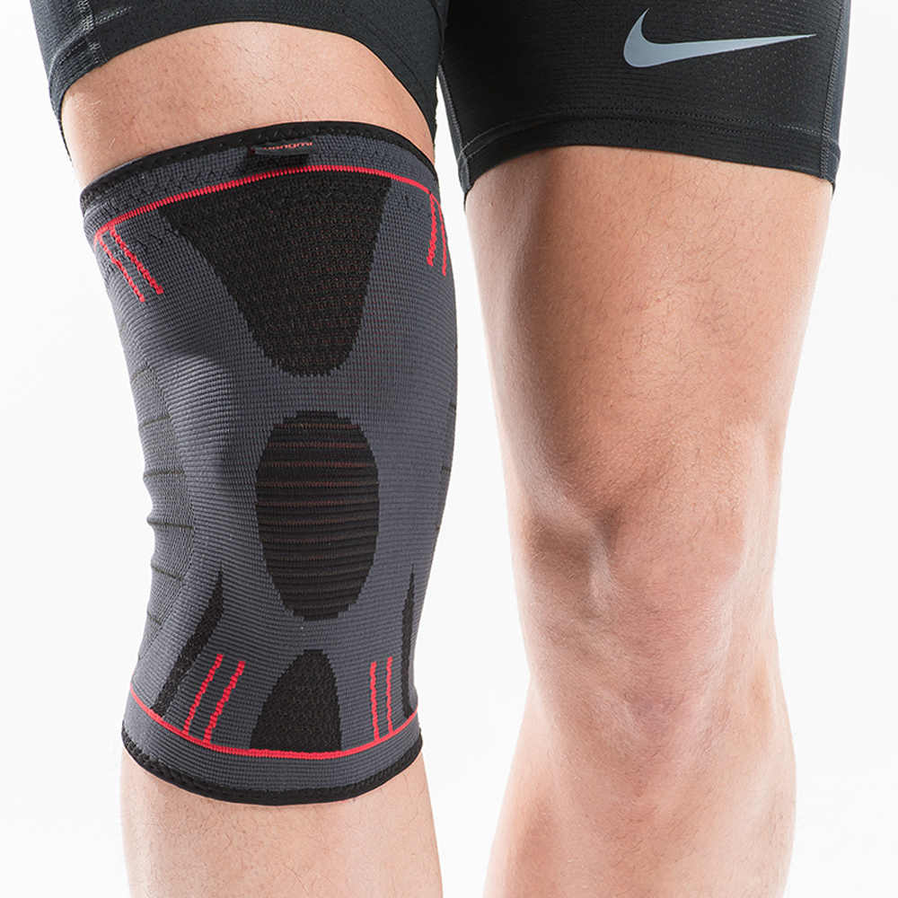 8b56c304bf ... 2 Pcs Kuangmi Compression Knee Sleeve Support Sports Spring Brace  Silicone Pads Basketball Kneepad Patella Knee ...
