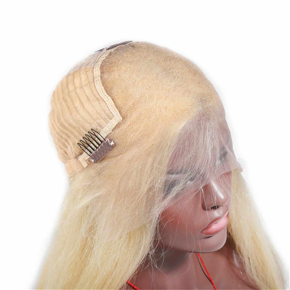 ALITOP 613 Honey Blonde 13x6 peluca brasileña predesplumada peluca recta de pelo Remy pelucas de cabello humano frontales de encaje sin pegamento para las mujeres negras