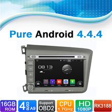 Pure Android 4.4.4 Car DVD GPS Navigation System for Honda Civic (2012)