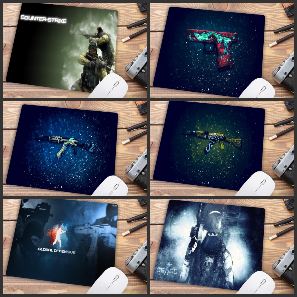 Mairuige Big Promotion Rubber Anti-slip Counter Strike Mice Mat DIY Computer Mousepad Gaming Mouse Pad Cs Go Rubber Mat 22X18CM