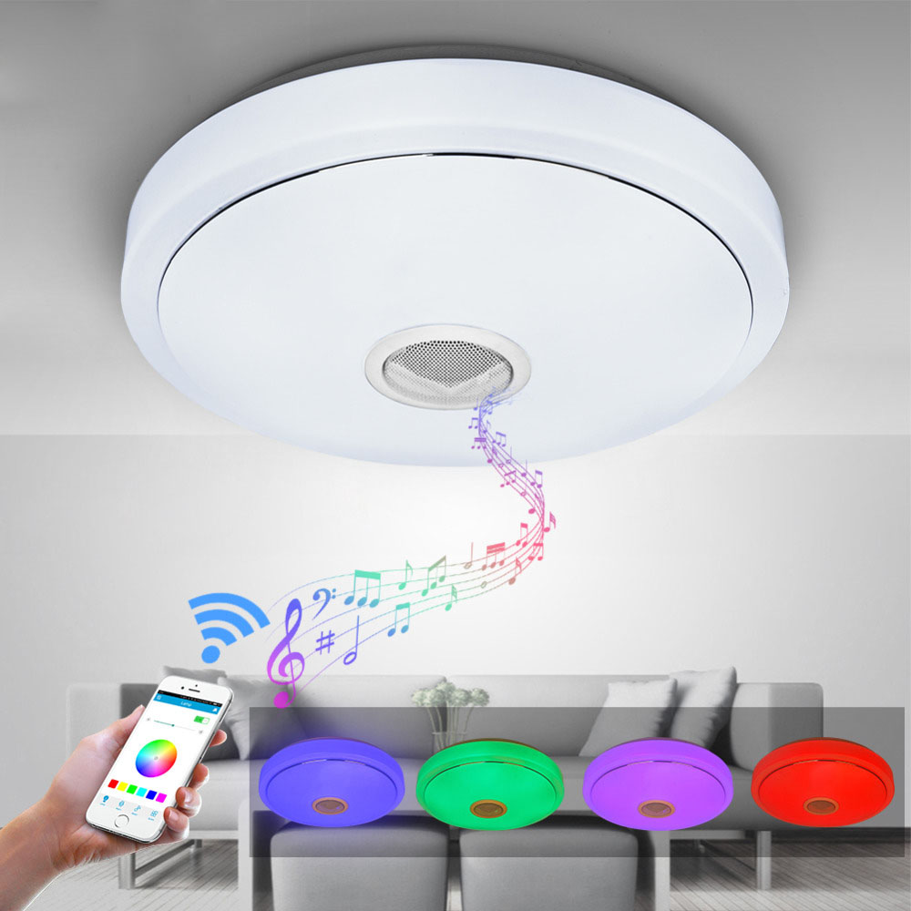 Modern RGB Ceiling Light LED Lamp Panel Round Hall Surface Mount Flush Remote Control Living Room Bedroom Lighting Fixture black and white round lamp modern led light remote control dimmer ceiling lighting home fixtures