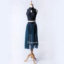 C216 サポート-ダンスツーピースセクシーな背中ドレス子供アダルト現代パフォーマンス衣装