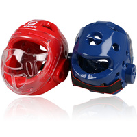 O envio gratuito de Homem Mulher taekwondo Wushu Sanda Boxe protetor de cabeça capacete protetor wtf taekwondo capacete karate MMA guarda cabeça