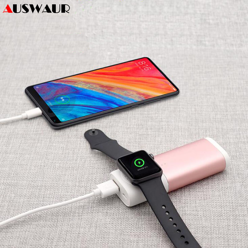5200mah Portable Power Bank Magnetic Charger for Apple Watch iWatch 1 2 3 4 Wireless Charger
