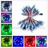 50 pcs/lot 12mm WS2811 2811 IC RGB Led Module String Waterproof DC5V Digital Full Color LED Pixel Light