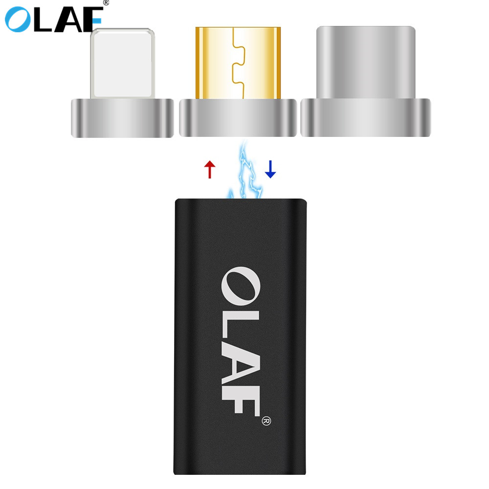 OLAF Magnetic USB Micro Female To Type C / For IPhone / Micro Male Cable Connector Converter USB-C Android Magnet Phone Adapter