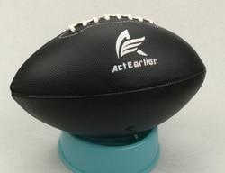 Для регби, спортивных, официальных размеров 6, черный цвет, американский футбол, мяч для регби, для тренировок, матча, развлекательная игрушк...