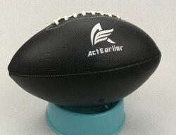 Rugby deportes tamaño oficial 6 Color negro fútbol americano pelota de Rugby para entrenamiento partido entretenimiento juguete