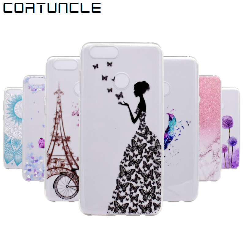 COATUNCLE Soft TPU case Huawei P9 lite mini Huawei enjoy 7 case Transparent Silicone Back cover For Huawei Y6 Pro 2017 Case