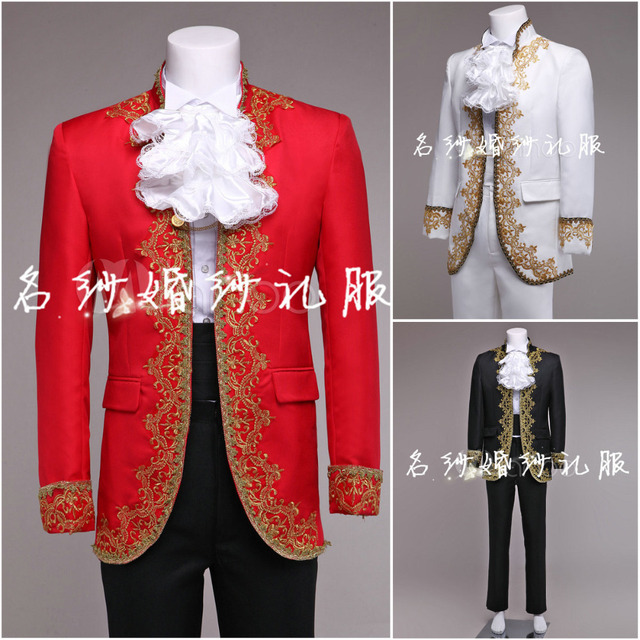 (jakcet+pant) suit set prom male costume over the national costume stage blazer wedding dress trousers party formal outfit
