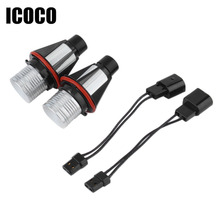 ICOCO 2*5W 10W Bridgelux Chip LED Marker Angel Eyes White for E39 E53 E60 E61 E63 E64  2 Pieces(1 Set)  FREE SHIPPING