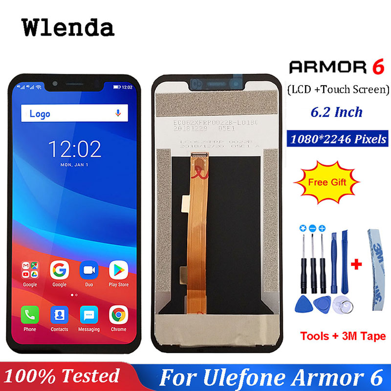 For Ulefone Armor 6 LCD Display+Touch Screen Assembly Repair Part 6.2 inch Phone Accessories For Ulefone Armor 6For Ulefone Armor 6 LCD Display+Touch Screen Assembly Repair Part 6.2 inch Phone Accessories For Ulefone Armor 6