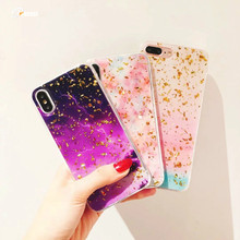 Luxury Gold Foil Bling Glitter Marble Case For iPhone X XS XR MAX With phone stand Cover 7 6 6s 8 Plus Phone