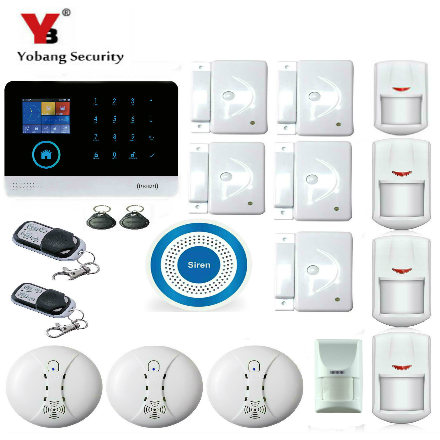 YobangSecurity WiFi GSM GPRS RFID Wireless Home Business Office Burglar Security Alarm System Pet Friendly Immune Detector yobangsecurity wireless wifi gsm gprs rfid home security alarm system smart home automation system pet friendly immune detector