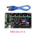 MKS Gen V1.4 плата управления Mega 2560 R3 Материнская плата RepRap Ramps1.4 совместима с a4988 Drv8825 для 3d принтера