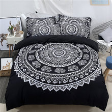 White Black Blue Bohemia 3D Bedding set 3/4pc Twin Queen King Size Adults Kids Duvet Cover set Bedsheet Pillowcase bed linen 36(China)