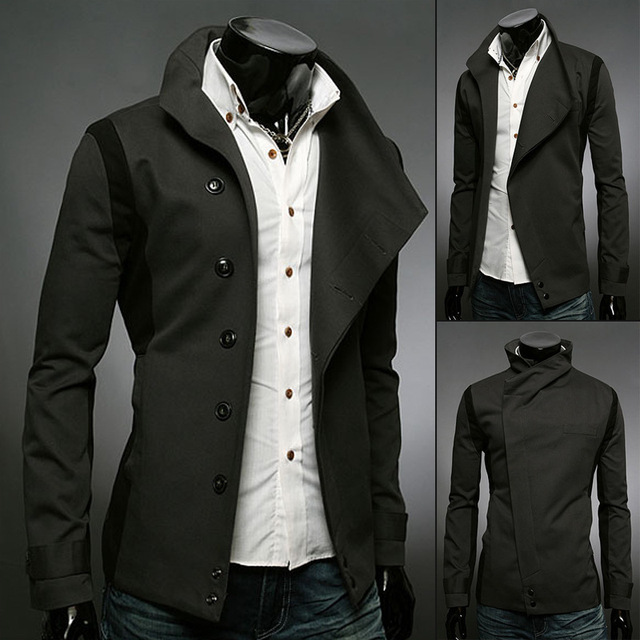 83925e0adddd 2015 New Hot England Style Black Trench Coat Men Patchwork Double Breasted  British Style Mens Cotton Coat Trench Coat Masculino