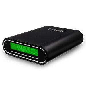 Image 2 - TOMO شاحن بطارية 4*18650 ، شاحن USB 5V 1A/2A مع شاشة LCD ذكية لهاتف iPhone X Samsung S8 Note 8