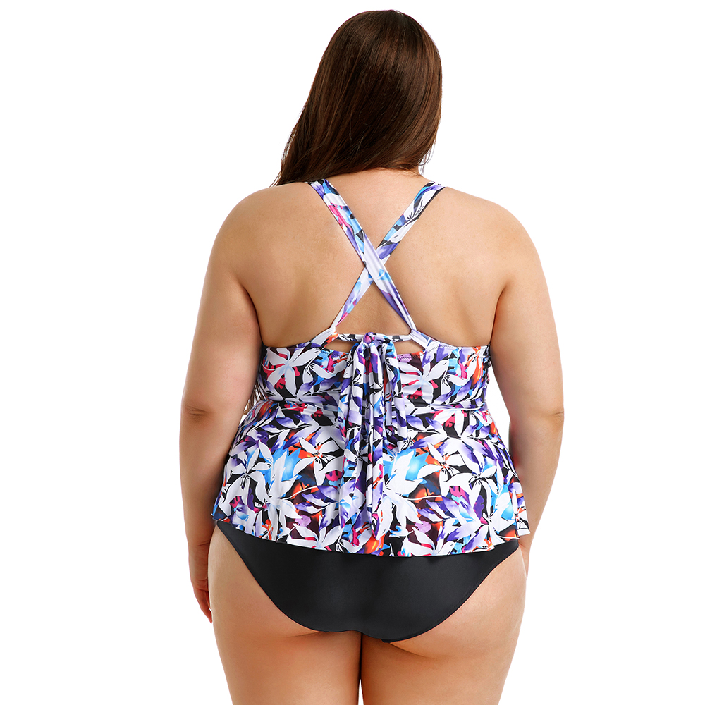 Womens Swimdress Quality Swimsuit Striped Bathing Tankini Swimdress UK sz 12-20