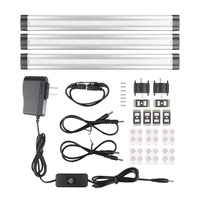 3pcs SMD 3528 IR remote control Dimmable Under Cabinet Light LED Hard Rigid Bar Kitchen Light LED bar light 45