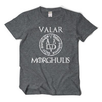 Game Of Thrones VALAR MORGHULIS T Shirt Faceless Man Basic Tee Jaqen Costume