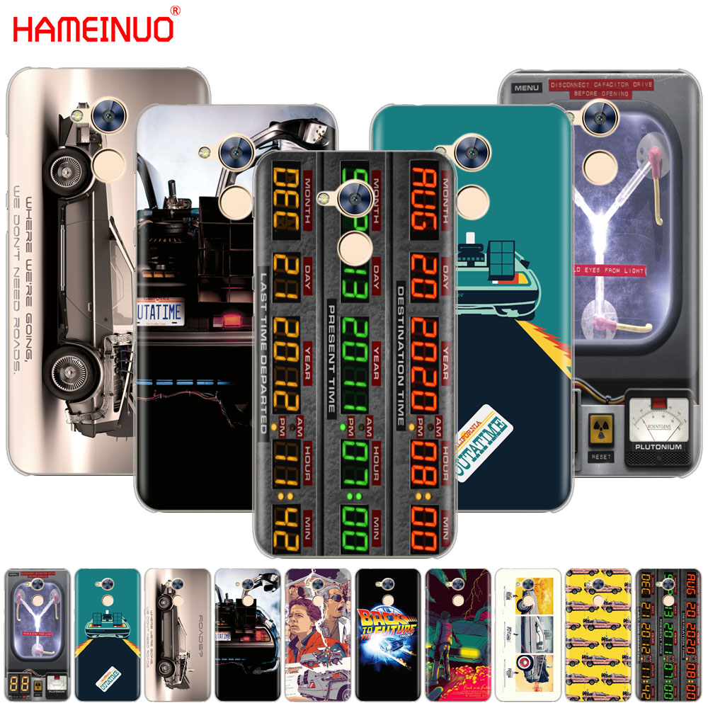 Back to the Future DeLorean Time Machine Cover phone Case for Huawei Honor 10 V10 4A 5A 6A 7A 6C 6X 7X 8 9 LITE