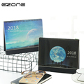 EZONE 1PC 2018 Delicate Coil Star Sky Printing Calendar Beauty Star And Moon Dual Daily Scheduler Table Calendar Office Supplies