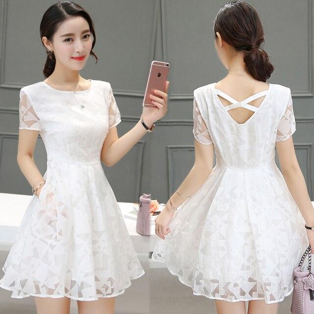 Además de gran tamaño de las mujeres vestido de ropa de verano de 2016  estilo coreano e8c294565d43