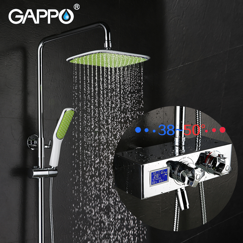 GAPPO shower faucet bathroom rain shower mixer rainfall bath tub faucet mixer taps Bathtub Faucets shower system