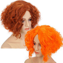 Alice in Wonderland 2 Mad Hatter Tarrant Hightopp Orange Brown Wig