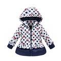On sale!!! 2015 Girls Winter Coat Outerwear Kids Jacket Coat Baby Girls Full sleeve Jacket warm hooded baby clothing