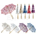 Hot Selling New Bridal Embroidered Lace Parasol Wedding Party Decoration Umbrella 4Colorsff Free shipping-Y102