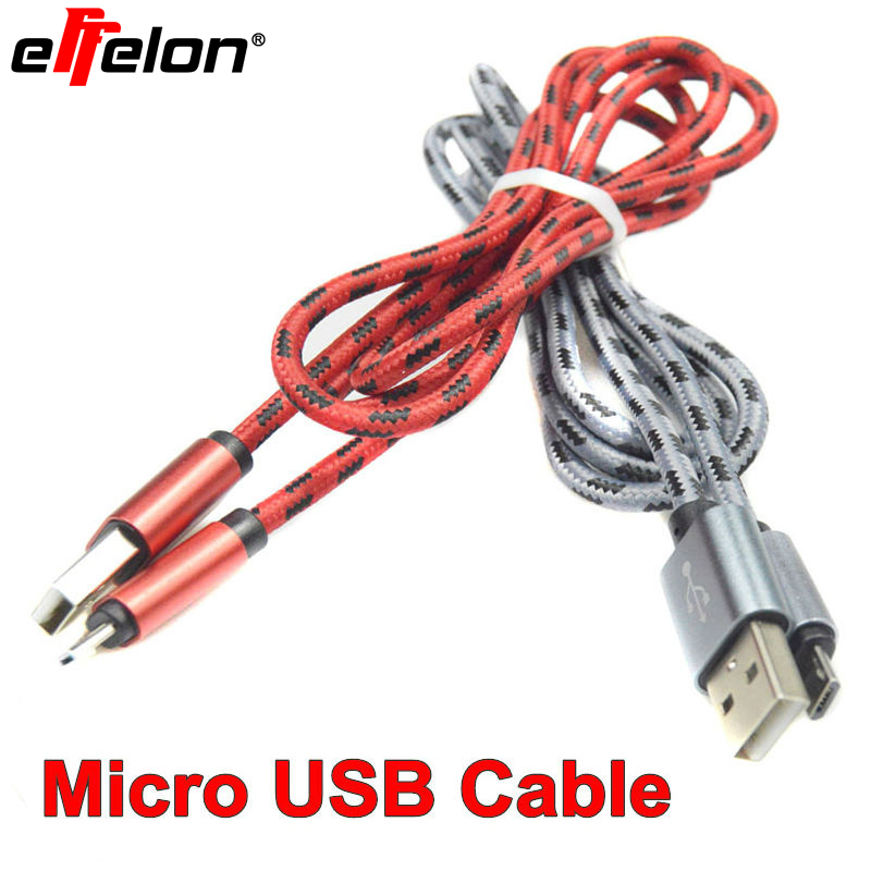 Effelon 1M/2M/3M Fast Charging Micro USB Cable Mobile Phone USB Charger Data Sync Cable for Samsung/HTC/Xiaomi Android Phone
