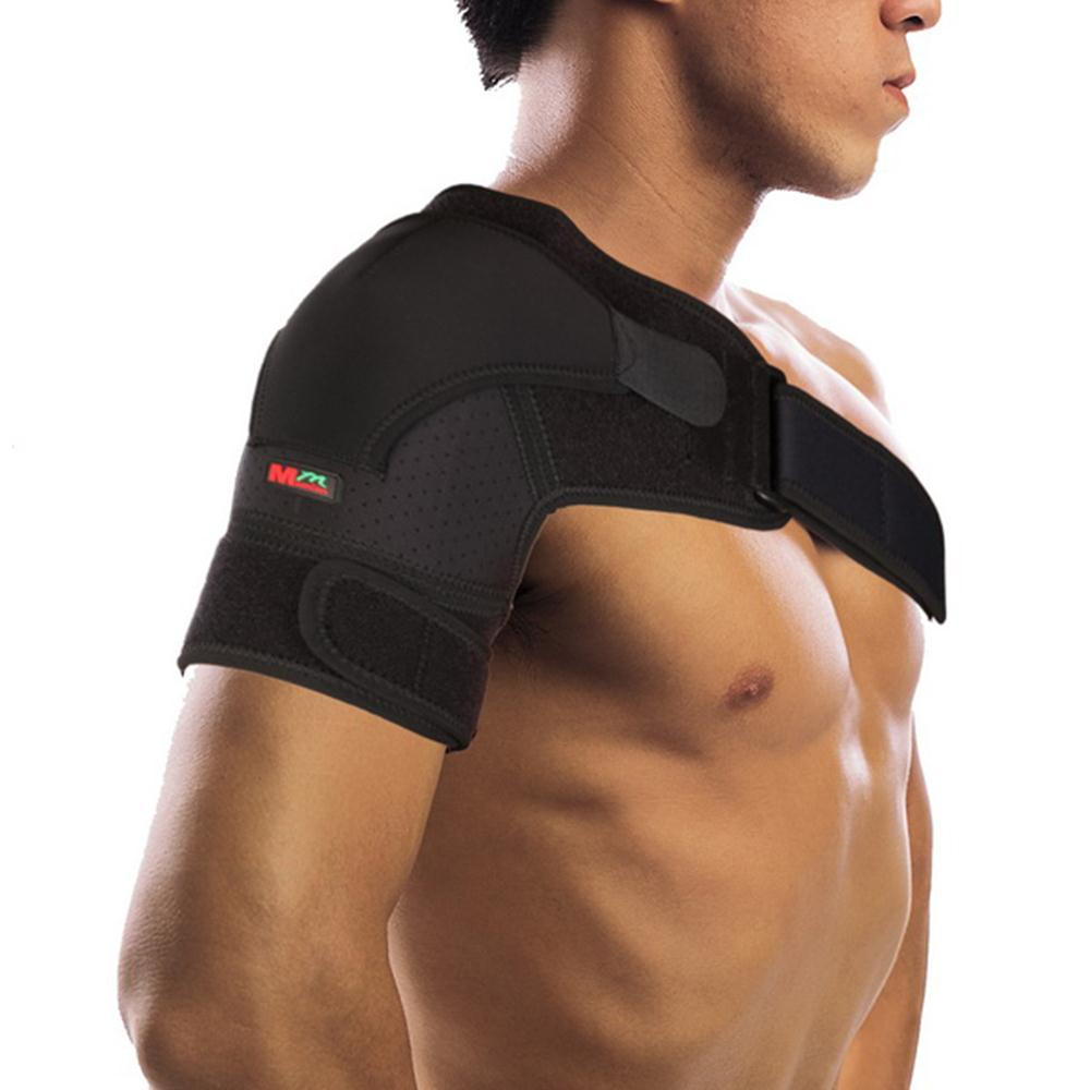 Mumain 1Pcs Adjustable Right Shoulder Bandage Protector Brace Joint Pain Injury Shoulder Support Strap Training Sports Equipment