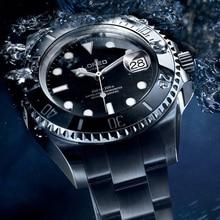 LOREO 200m Diving Automatic Watch Luminous Men Mechanical Men Watches Fashion Brand Relogio Masculino Waterproof Stainless Steel