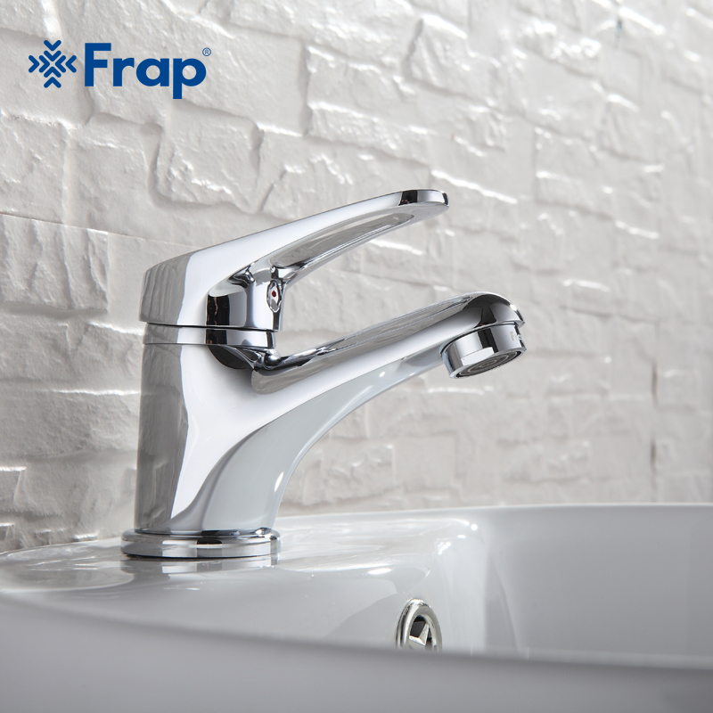 Image 2 - FRAP mini Stylish elegant Bathroom Basin Faucet Brass Vessel Sink Water Tap Mixer Chrome Finish  F1013  F1036-in Basin Faucets from Home Improvement