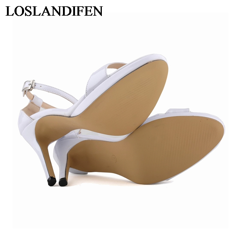 Nlk D'été a0105 1 Chaussures 6 5 2 Verni De Talons 4 Taille Sandales Bout 2018 Ouvert Élégantes À Femmes Cuir 3 En Mode Femelle Grande Hauts xwZUc