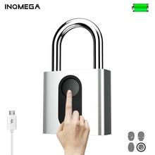 INQMEGA Smart Fingerprint Padlock  Quick Unlock USB Rechargeable Anti-