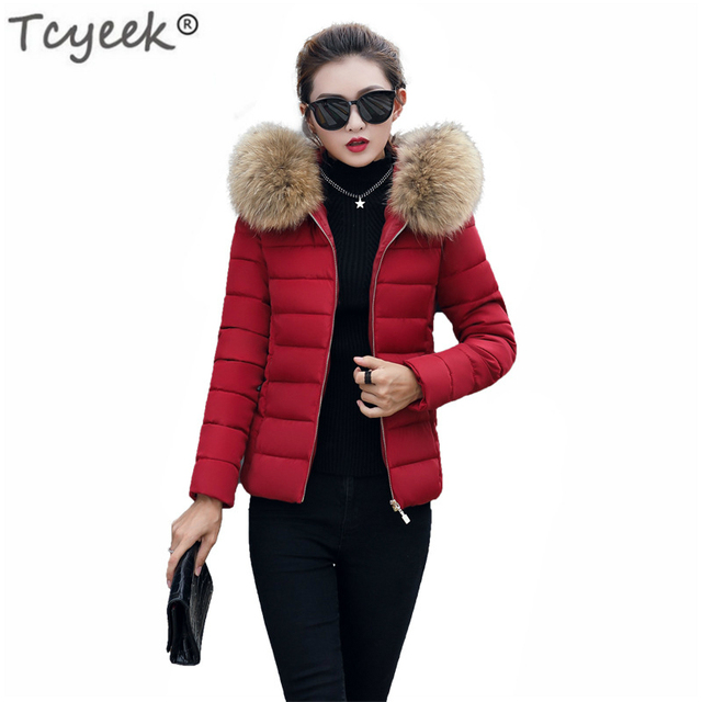 fc18ee3301e Tcyeek Plus Size 4XL 5XL 6XL Parkas Winter Jacket Women Big Fur Hooded Coat  Female Cotton Padded Warm Clothes Parka Mujer LWL957