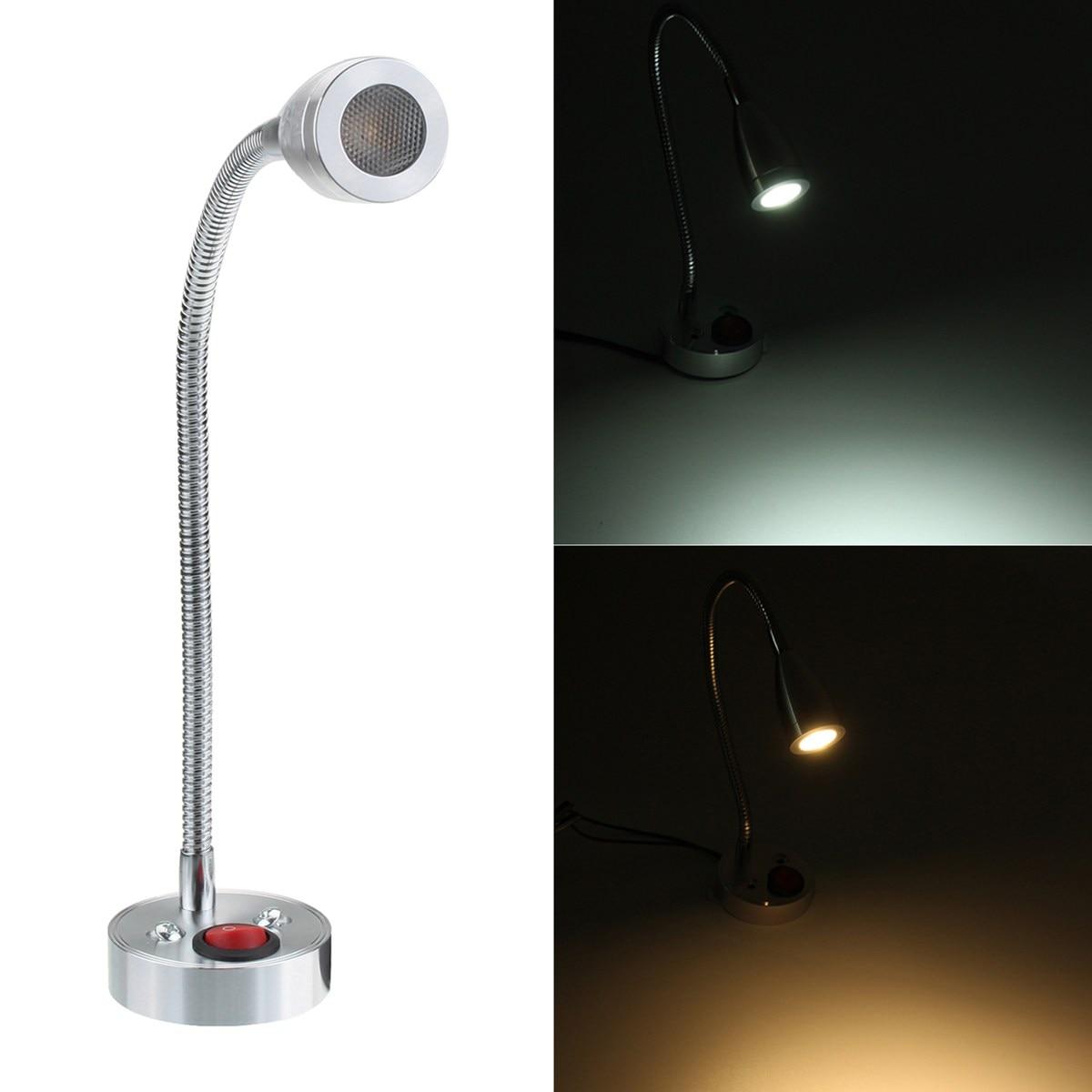 12 В 3 Вт 6000 К интерьер светодиодные пятна Чтение выключатель света для Camper караван прикроватные стены